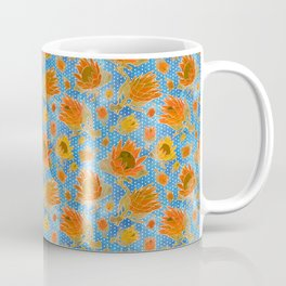Australian Native Floral Pattern - King Protea Flowers Coffee Mug