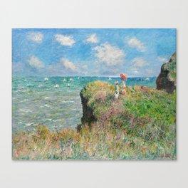 1882-Claude Monet-Cliff Walk at Pourville-66 x 82 Canvas Print