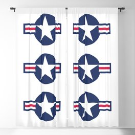 US Airforce style roundel star Blackout Curtain