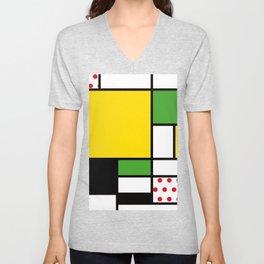 Mondrian – Bycicle Unisex V-Neck