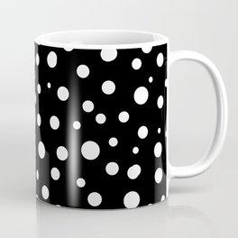 Dots Black and White Pattern Coffee Mug