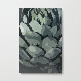 Abstract Aloe Vera Leaves Metal Print