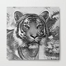 AnimalArtBW_Tiger_20170602_by_JAMColorsSpecial Metal Print