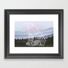 Geometric Nature - Bear (Full) Framed Art Print