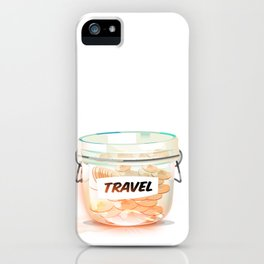 Travel Coin Jar iPhone Case