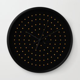 klimt gold circle pattern Wall Clock