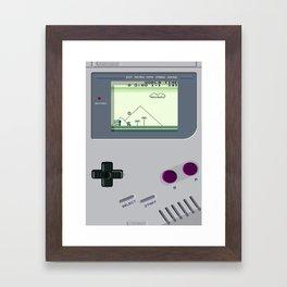 OLD GOOD GAMEBOY Framed Art Print