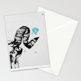ram skull and diamonds Stationery Cards