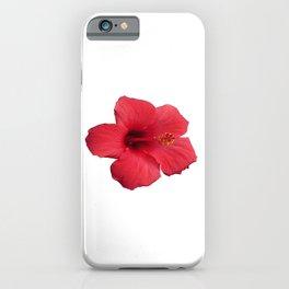 Stunning Red Hibiscus Flower iPhone Case