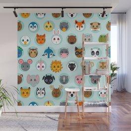 Baby Animal Dots Wall Mural