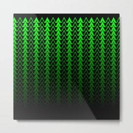 Dark Forest Geometric Metal Print