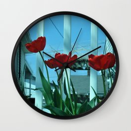 Tulips in the Breeze Wall Clock