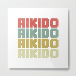 Aikido In Colors Metal Print