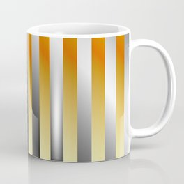 Illustration of a meta steel and gold Coffee Mug