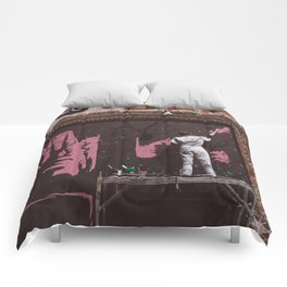 New York Street Artist II Comforters