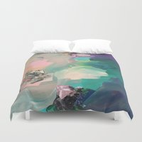 mineral Duvet Covers featuring Mineral Meteor by Sara Cannon Art