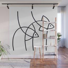 Two Swimming Fish Wall Mural