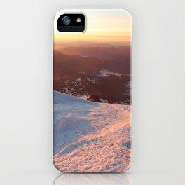 Sunrise above the earth - 14,411 feet Mt. Rainier iPhone Case