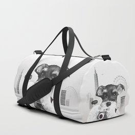 Schnauzer with Camera Duffle Bag