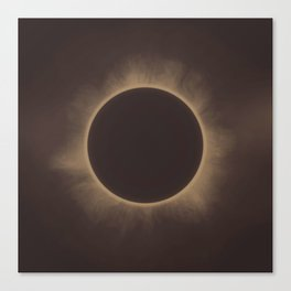 Solar Eclipse in Sepia Canvas Print