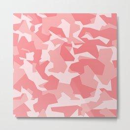 Camouflage Splinter Pattern Pink Metal Print
