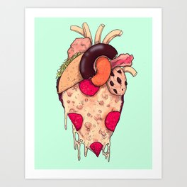 Snack Heart Art Print