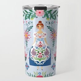 Fairy Tale Folk Art Garden Travel Mug