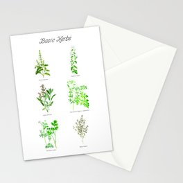 Basic Herbs Stationery Cards