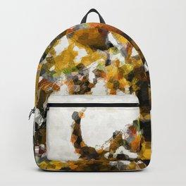 Modern Yellow Buffalo Art by Sharon Cummings Backpack