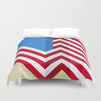 flag Duvet Covers featuring Flag by Ryan Winters