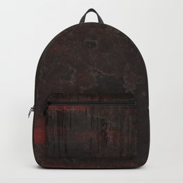 Red Black Wall Backpack