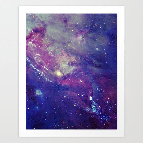Galaxy Collage I Art Print