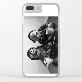 Modern Puppet Gothic Clear iPhone Case