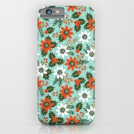 Christmas Jolly Floral iPhone Case
