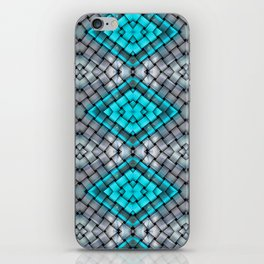 Blue eyes watching over you iPhone Skin