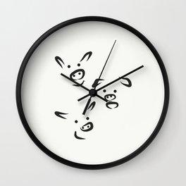 Three Piggies Wall Clock