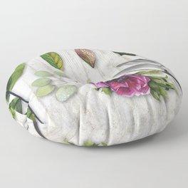 Botanica I Plants and Flowers Floor Pillow