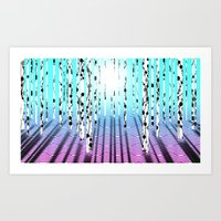 Birchwood Art Print