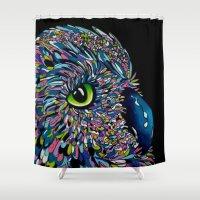 predator Shower Curtains featuring Peaceful Predator  by ClarissaLynnArt