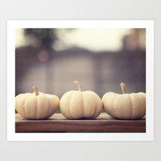 Ghost Pumpkins Art Print