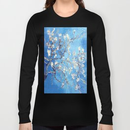 Vincent Van Gogh Almond Blossoms. Sky Blue Long Sleeve T-shirt