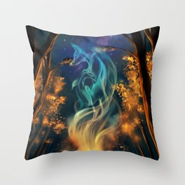 Fox spirit Throw Pillow