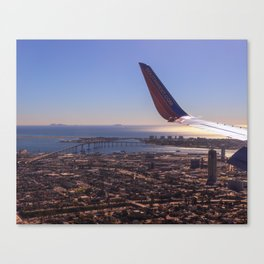 We will be landing in San Diego Canvas Print