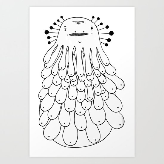Booba the Hutt Art Print