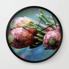 Baby Pine Cones Wall Clock