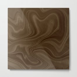 Chocolate Brown Swirl Metal Print