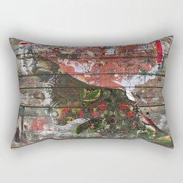 Hidden Nature (Profile of Woman) Rectangular Pillow