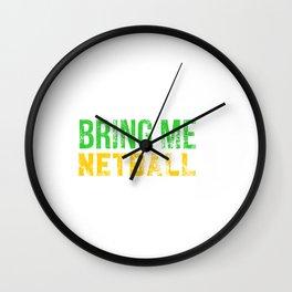Bring Me Netball Distressed Wall Clock