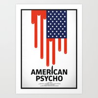 american psycho Art Prints featuring American Psycho by Chris Thornley
