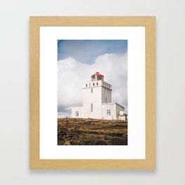 Dyrhólaey Lighthouse Framed Art Print